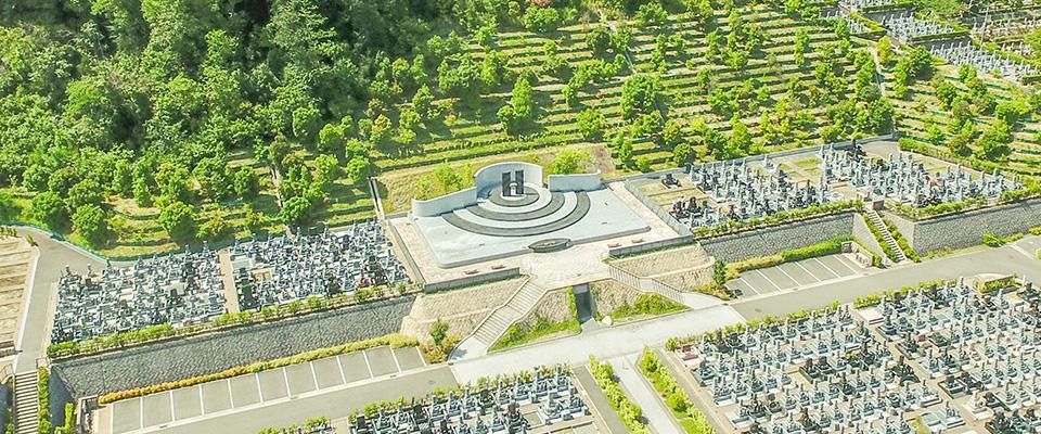 飯盛霊園の霊園|合葬墓「虹の丘」募集イメージ